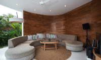 Villa Pancaloka Indoor Seating Area with Garden View | Jimbaran, Bali