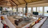 Villa Sunrise Living Area with Television | Gianyar, Bali