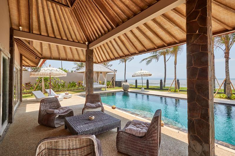Villa Sunrise Outdoor Seating Area with Pool View | Gianyar, Bali