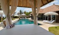 Villa Sunrise Outdoor Seating with Pool View | Gianyar, Bali