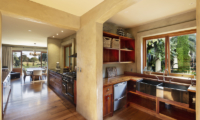 Ataahua Lodge Living and Kitchen Room | Whakamarama, Bay of Plenty