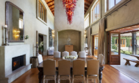 Ataahua Lodge Dining Room with Fire Place | Whakamarama, Bay of Plenty