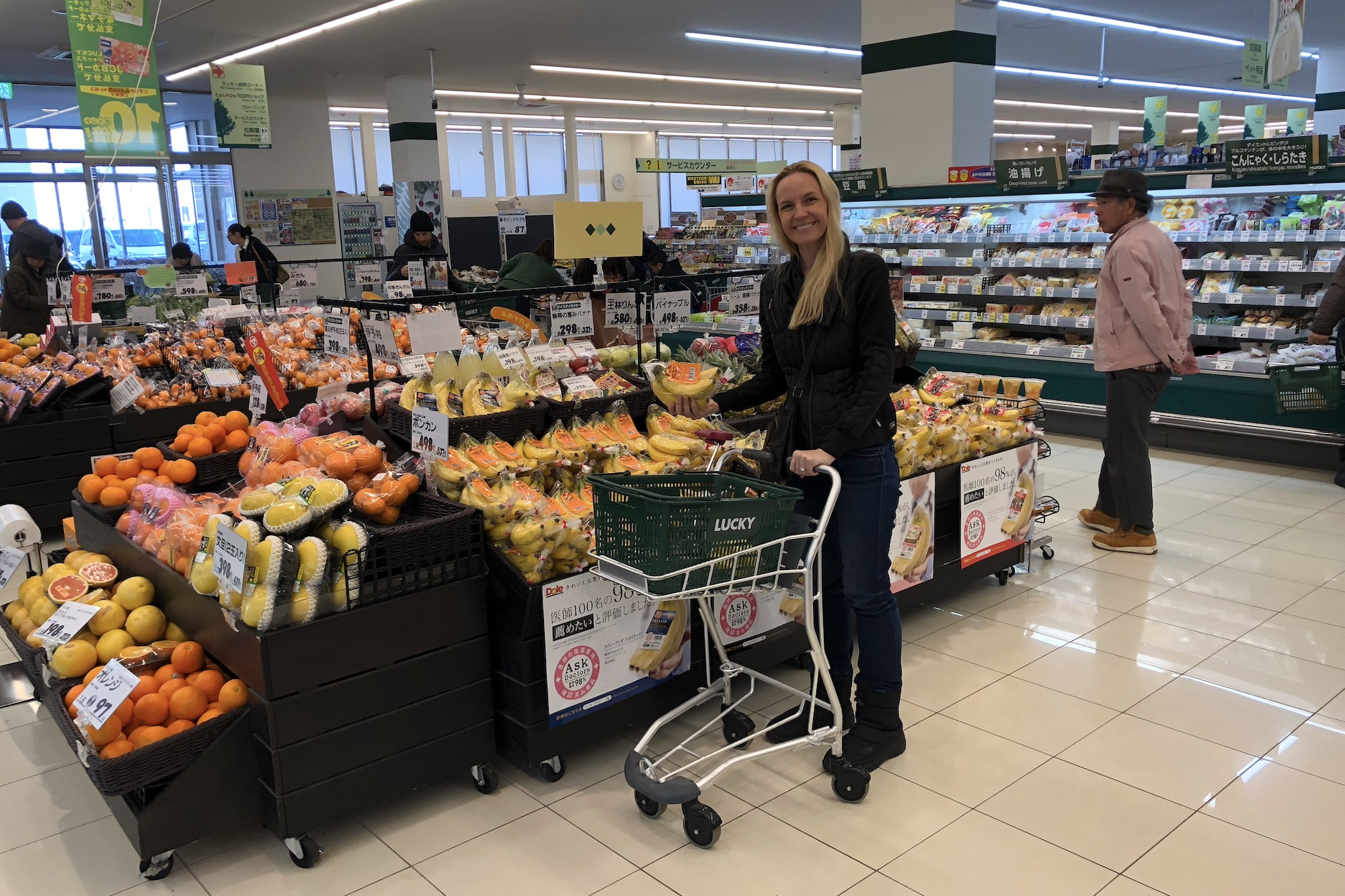 Stocking up on Groceries and Drinks in Niseko, Japan