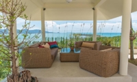 Villa Loramatari Outdoor Seating Area with Sea View | Choeng Mon, Koh Samui