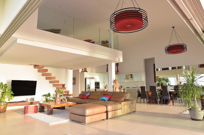 Villa Loramatari Open Plan Living and Dining Area with Kitchen | Choeng Mon, Koh Samui