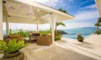 Villa Loramatari Outdoor Seating Area with Infinity Pool | Choeng Mon, Koh Samui