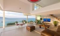 Villa Loramatari Living Area and Balcony | Choeng Mon, Koh Samui