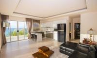 Villa Loramatari Open Plan Living Room with Sea View | Choeng Mon, Koh Samui