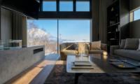 Odile Living Area with Mountain View | Hirafu, Niseko