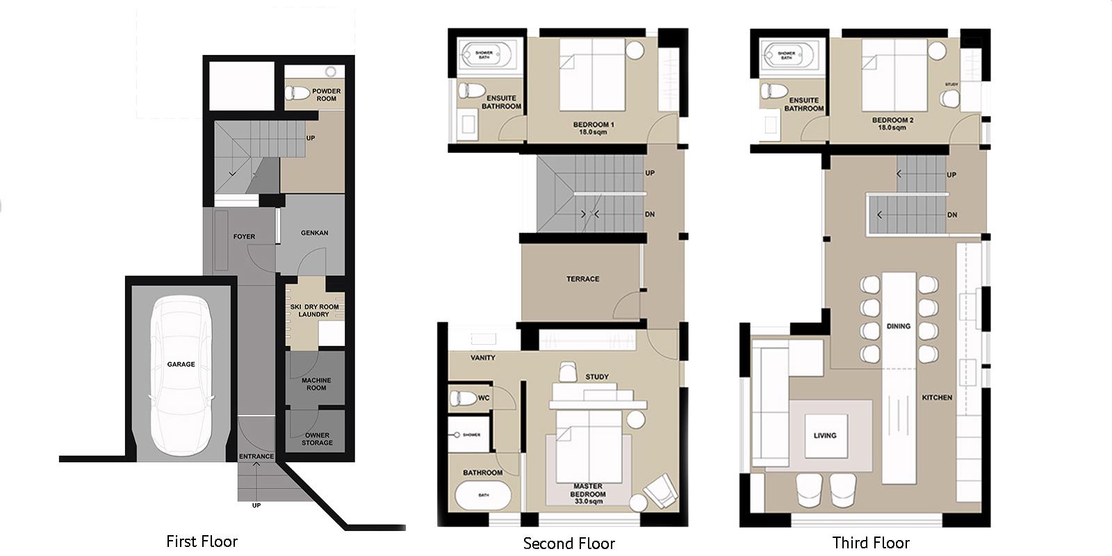 Odile Floor Plan | Hirafu, Niseko