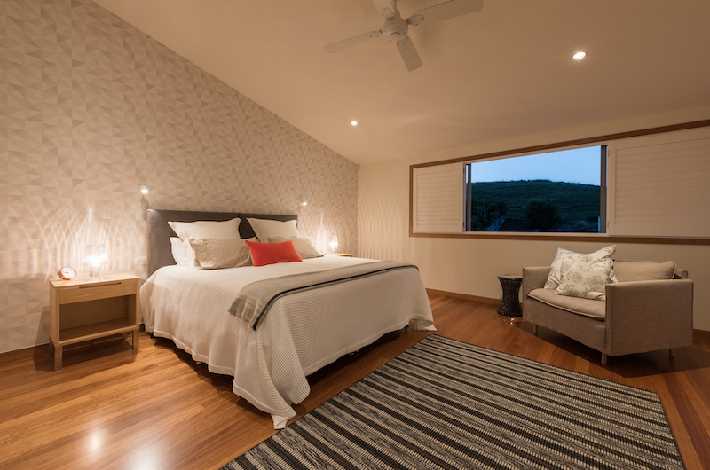 Otaha Beachfront Lodge Bedroom with Lamps | Bay of Islands, Northland