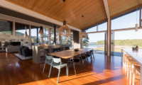 Otaha Beachfront Lodge Wooden Dining Table | Bay of Islands, Northland