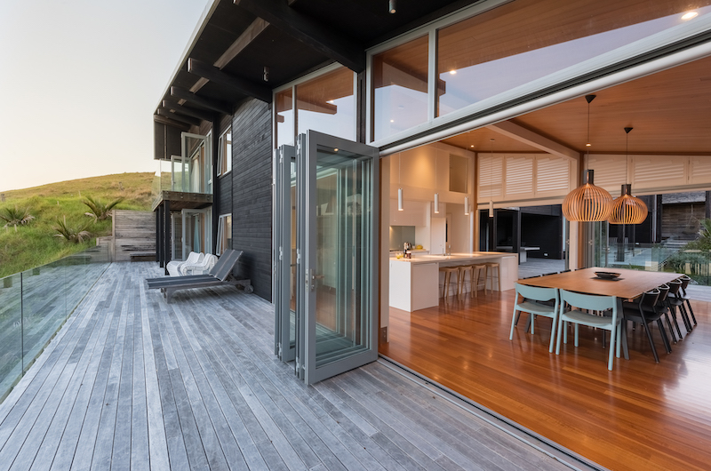 Otaha Beachfront Lodge Wooden Deck | Bay of Islands, Northland
