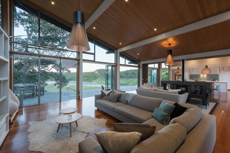 Otaha Beachfront Lodge Indoor Seating | Bay of Islands, Northland