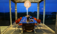 Whale Bay Estate Glass Dining Table | Matapouri, Northland