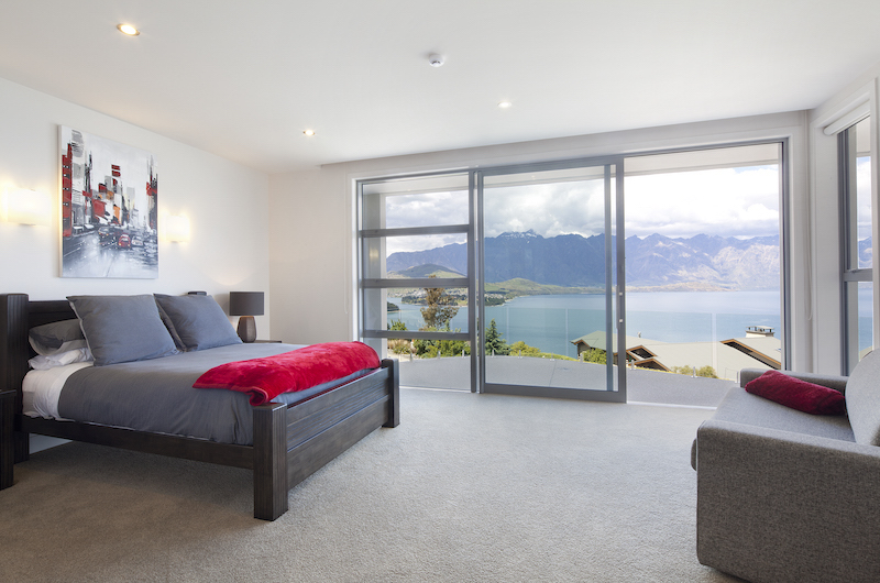 Aspen House Bedroom Two with Lake View | Queenstown, Otago