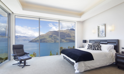 Aspen House Bedroom Three with Lake View | Queenstown, Otago
