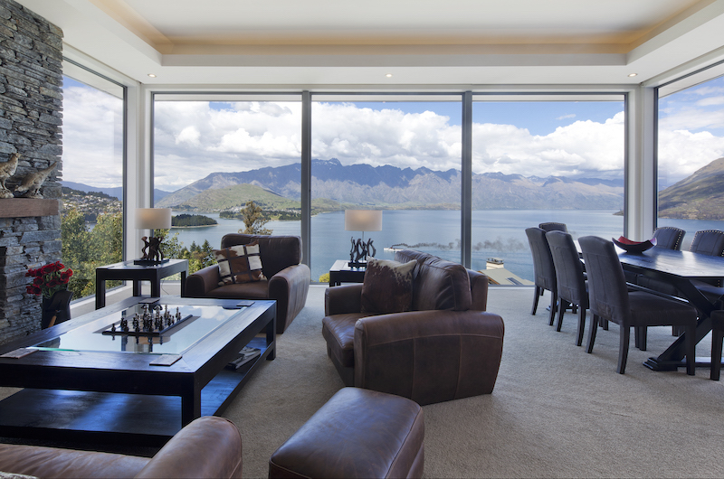 Aspen House Living and Dining Area with Lake View | Queenstown, Otago