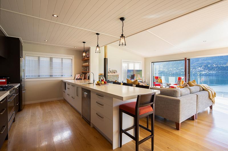 Kohanga Luxury Lakeside Villa Fully Equipped Kitchen | Queenstown, Otago