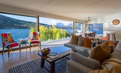 Kohanga Luxury Lakeside Villa Open Plan Living Room | Queenstown, Otago