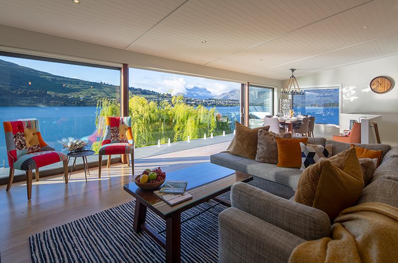 Kohanga Luxury Lakeside Villa Open Plan Living Room | Queenstown, Otago