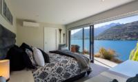 Kohanga Luxury Lakeside Villa Master Bedroom with Lake View | Queenstown, Otago