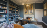 The Homestead at Lake Hayes Library with Fire Place | Queenstown, Otago