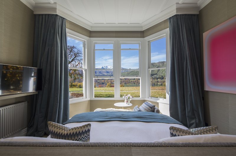 The Homestead at Lake Hayes Bedroom with Garden View | Queenstown, Otago