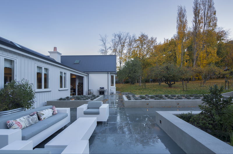 The Homestead at Lake Hayes Outdoor Seating | Queenstown, Otago