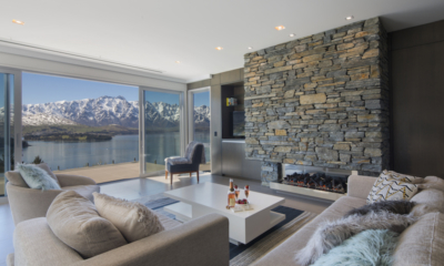 The Views Living Room with Fire Place | Queenstown, Otago
