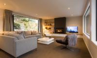 Villa Fifteen Indoor Seating Fire Place | Queenstown, Otago