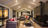 Villa Kahua Living Room with Fire Place | Queenstown, Otago