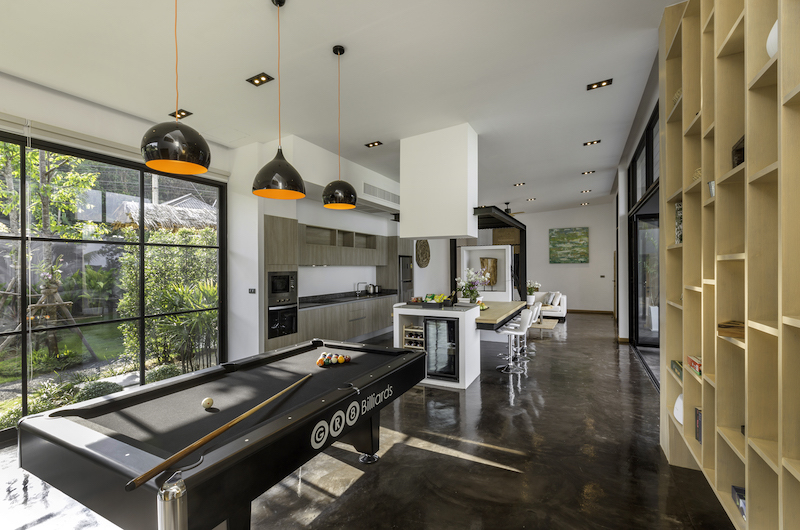 Villa Braya Living Room with Pool Table | Koh Yao Noi, Phang Nga