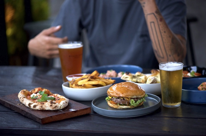 Black Sand Brewery Food - Burger | Canggu, Bali