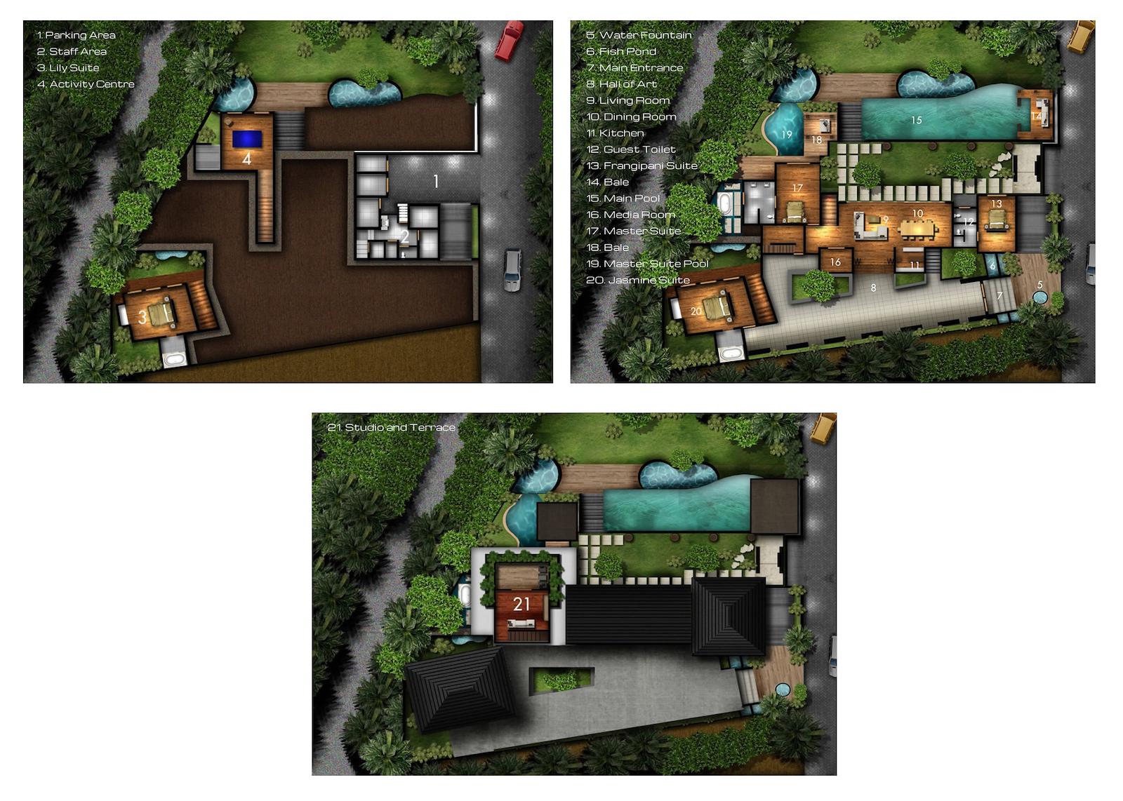 Villa Amita Nusa Dua Floor Plan | Nusa Dua, Bali