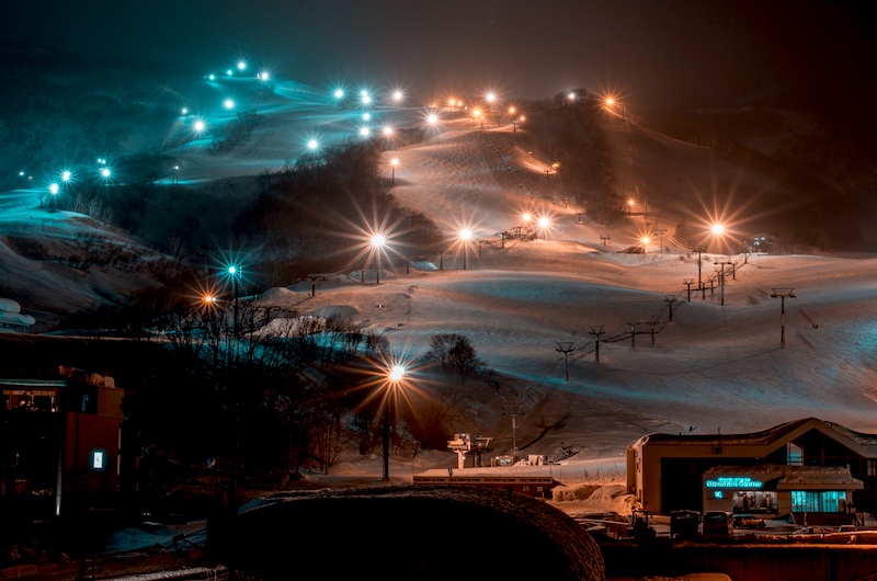 Japan Niseko Night Skiing
