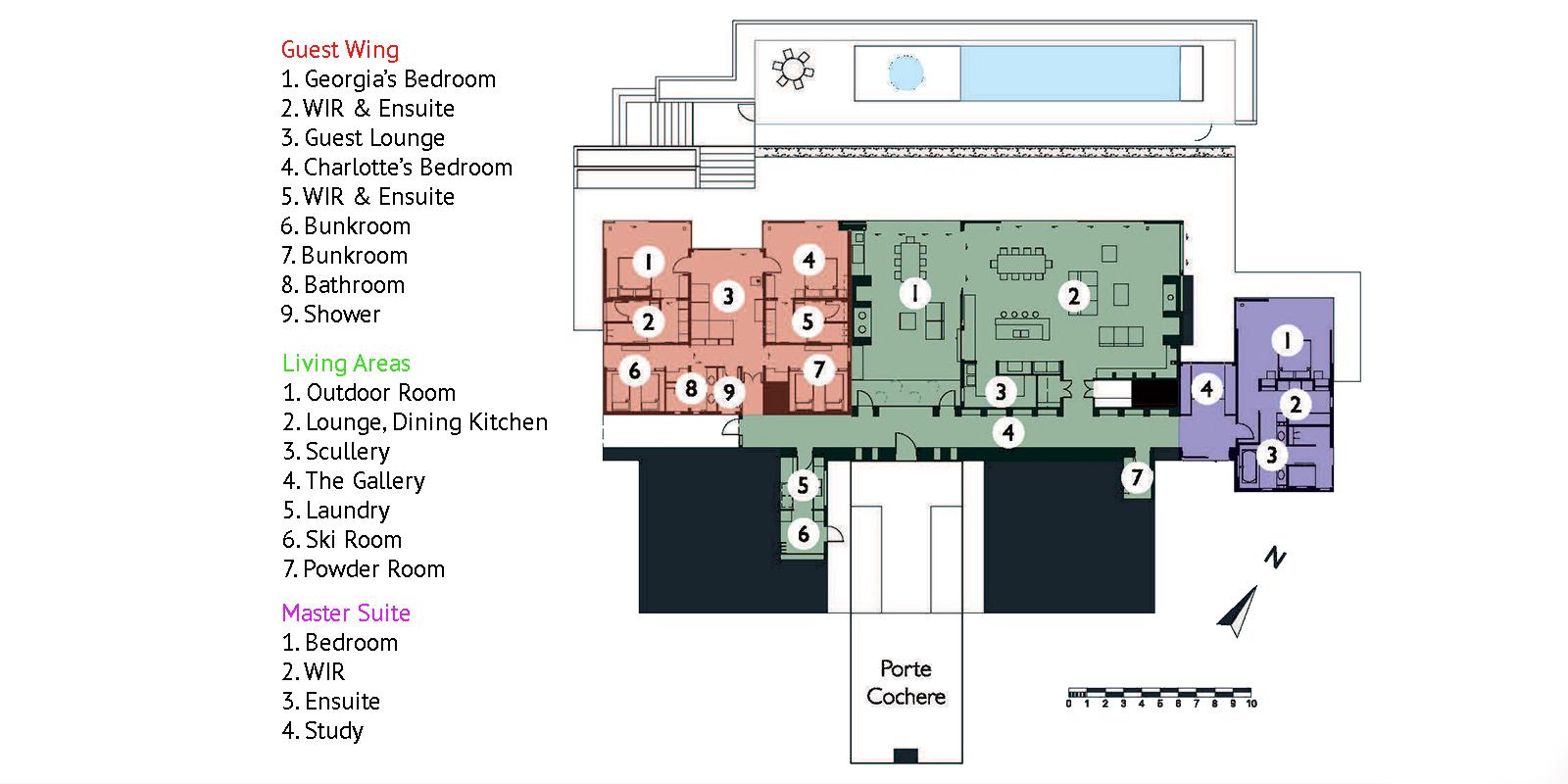 The Dacha Floor Plan | Wanaka, Otago