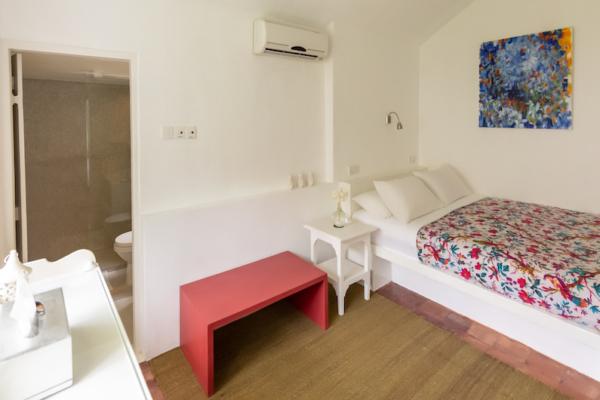 Rock Villa Bedroom with Seating | Bentota, Sri Lanka