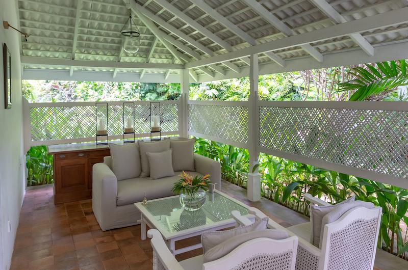 Rock Villa Superior Room Living Area | Bentota, Sri Lanka
