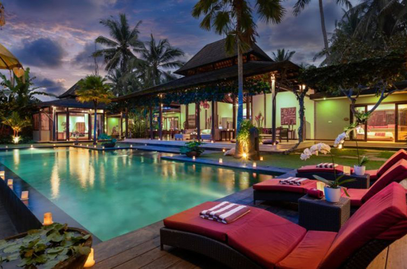 Villa Crystal Castle Night View Pool | Ubud, Bali
