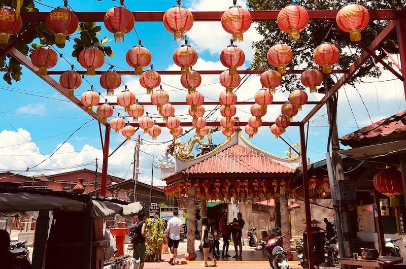 Chinese Lanterns at Chew Jetty   Georgetown, Malaysia