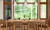 Birchwood Wooden Dining Table | Hirafu, Niseko