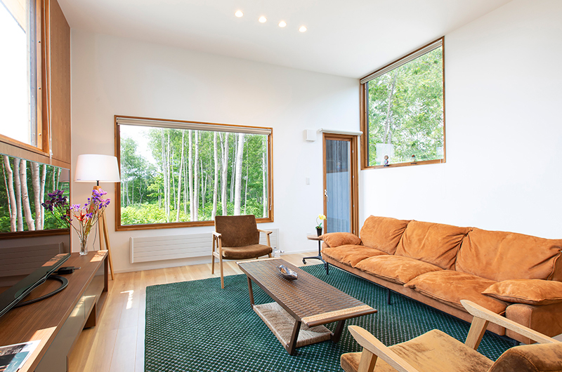 Birchwood Living Room | Hirafu, Niseko