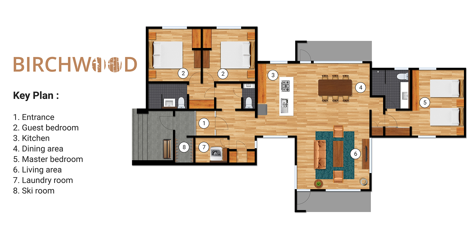 Birchwood Floor Plan | Hirafu, Niseko