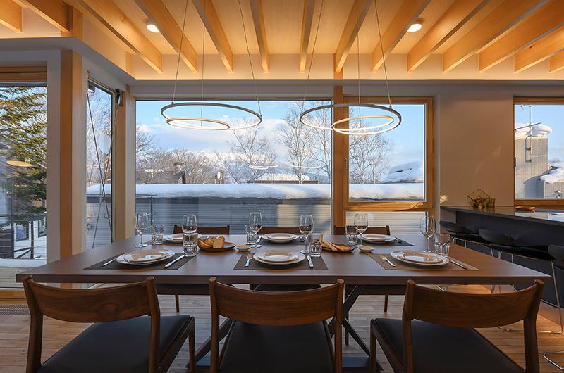 Hachiko Dining Table with Views | Hirafu, Niseko