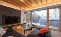 Hachiko Living Room with TV | Hirafu, Niseko