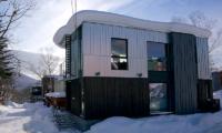 Hachiko Exterior Covered with Snow | Hirafu, Niseko