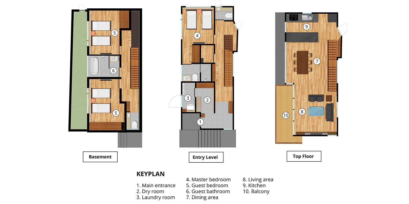 Hachiko Floor Plan | Hirafu, Niseko