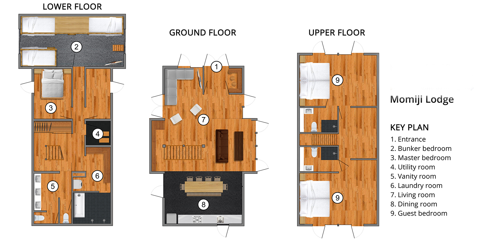 Momiji Lodge Floor Plan | Niseko, Niseko