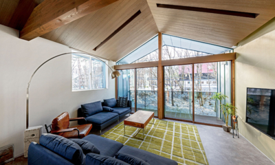 Grey Wolf Chalet Living Room | Hakuba, Nagano